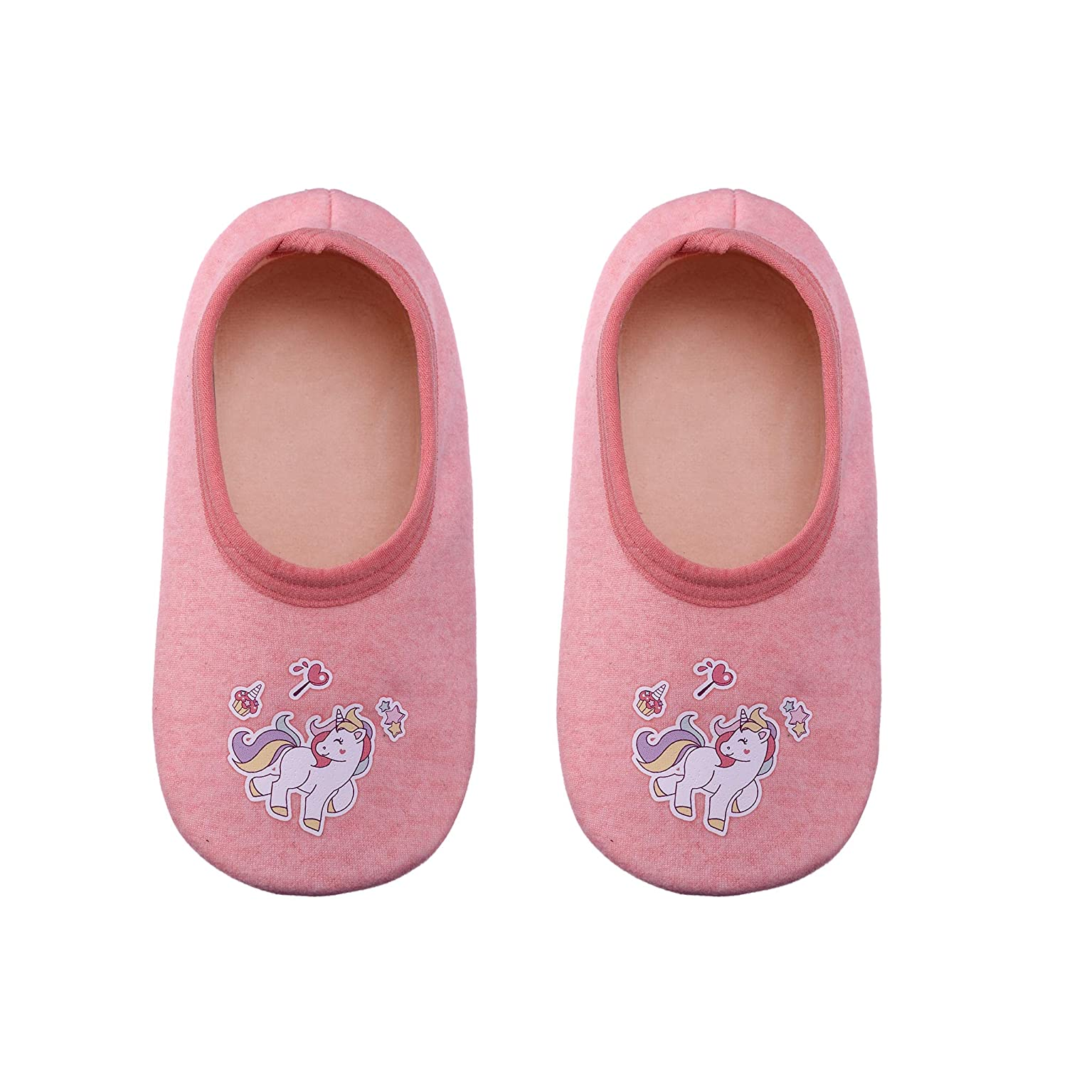 FANZERO Baby Toddler Boys Girls Cotton Cute Cartoon Animal Non Skid Slippers Newborn Infant Warm Winter Crib Shoes