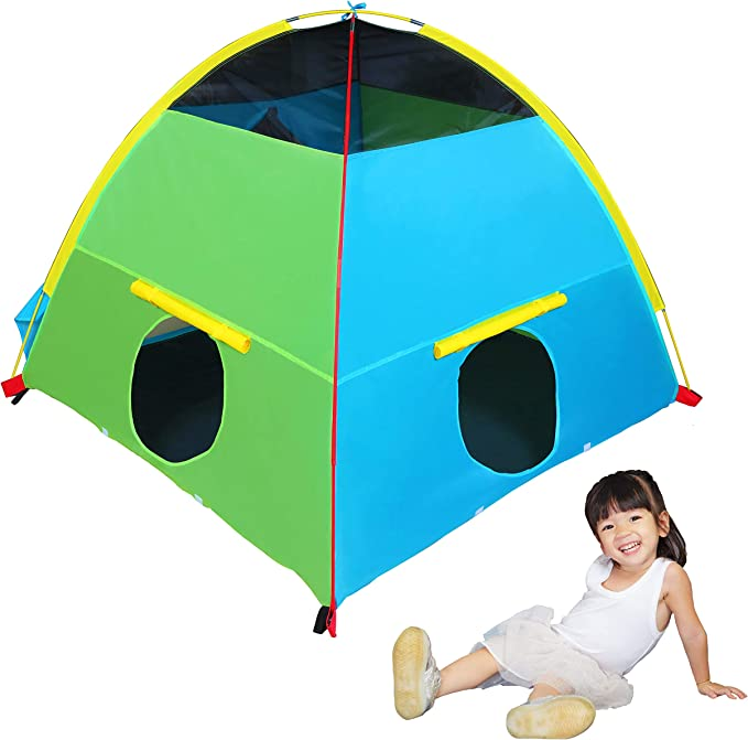 Large Indoor Playhouse Kids Tent Play Tent Fits 43w x 53l x 63h PVC frame you build Fabric Playhouse