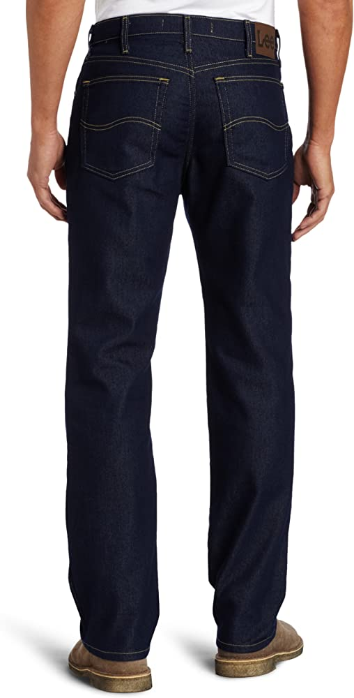 Men/'s Lee Regular Fit Stretch Straight Leg Jeans