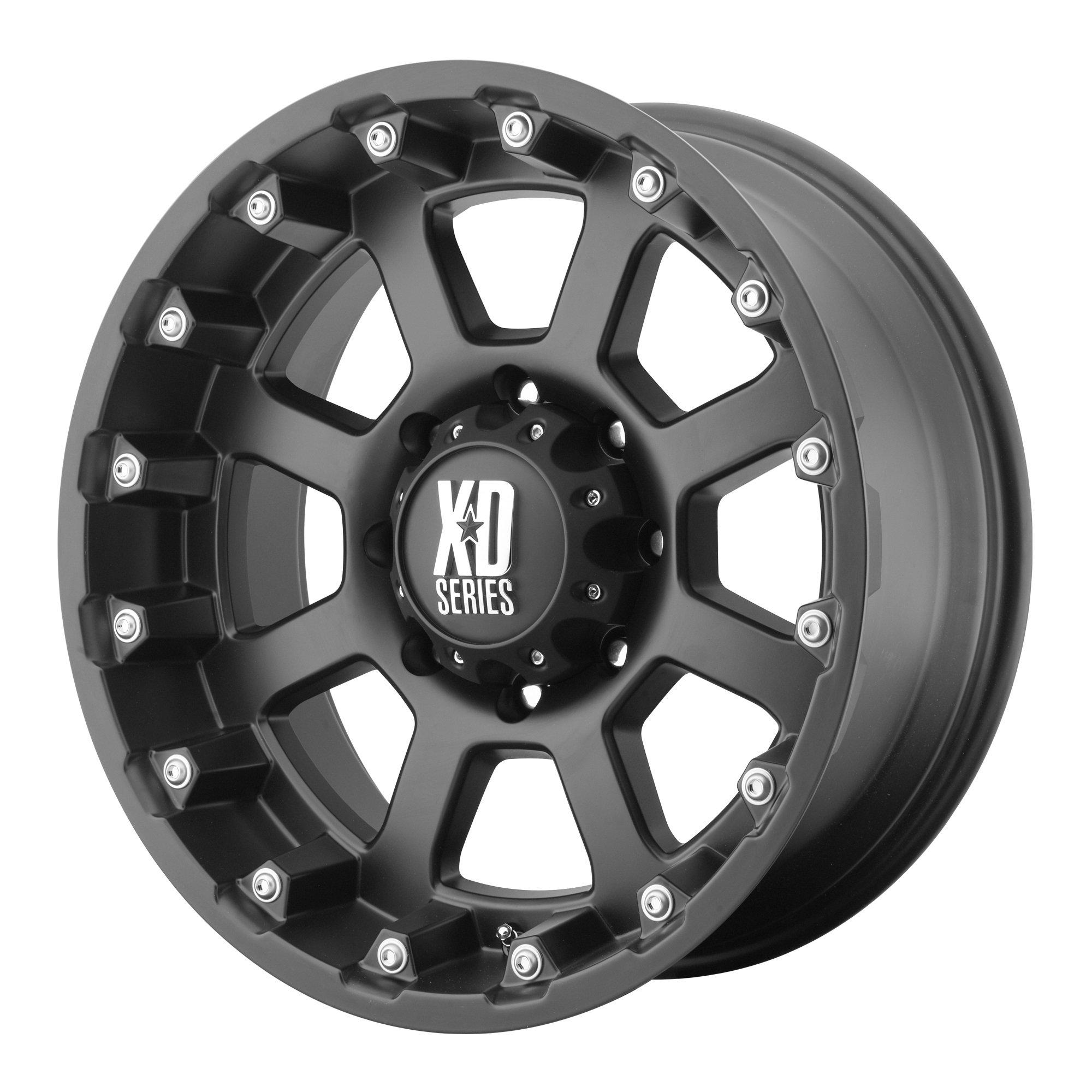 XD Series by KMC Wheels XD807 Strike Matte Black Wheel (20x10''/6x139.7mm, -24mm offset) by XD Series by KMC Wheels (Image #1)