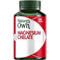 Nature's Own Magnesium Chelate 500mg - Supports Nerve & Muscle Function - Promotes Healthy Heart & Bones