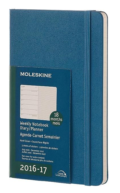 Moleskine DHB2118WN3Y17 - Agenda semanal 18 meses, L 13 x 21 ...