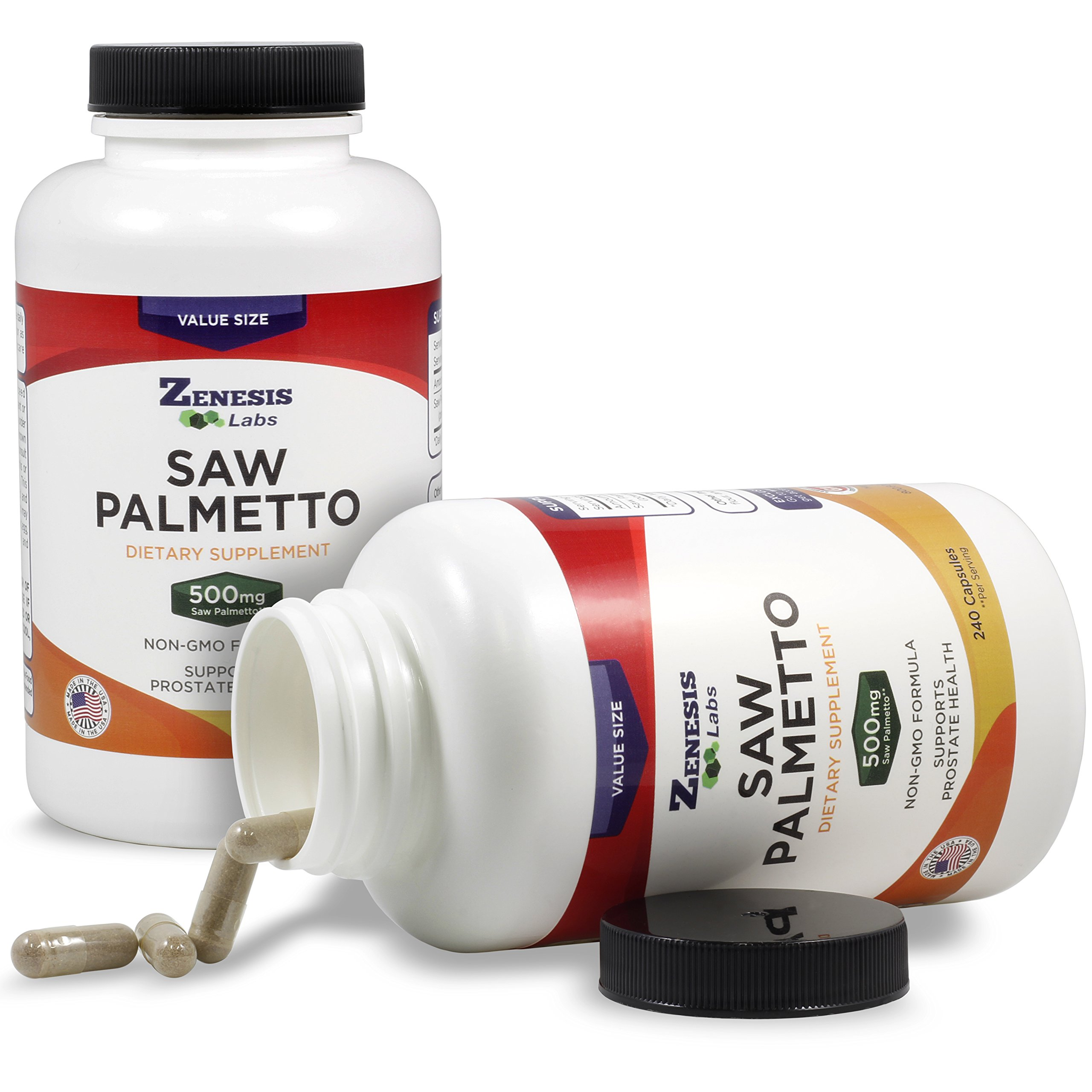 Saw Palmetto Extract - 240 Capsules - 500mg Per Capsule - More Than 200% More Capsules Than