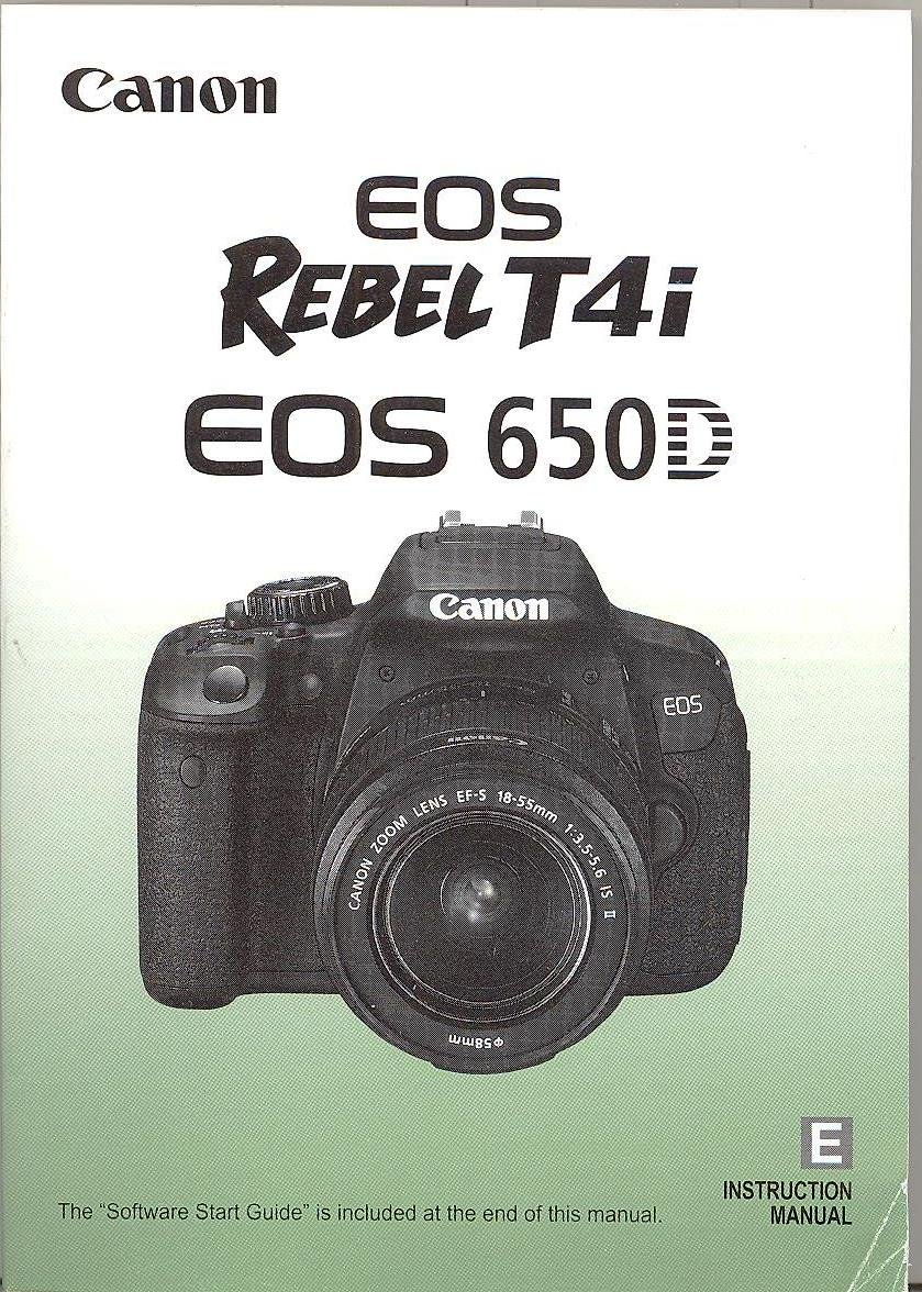 Canon EOS Rebel T4i EOS 650D Instruction Manual Paperback – 2012