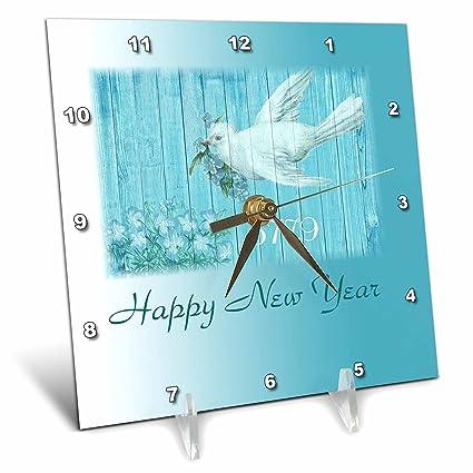 3drose jewish themes image of white dove on aqua and happy new year 5779