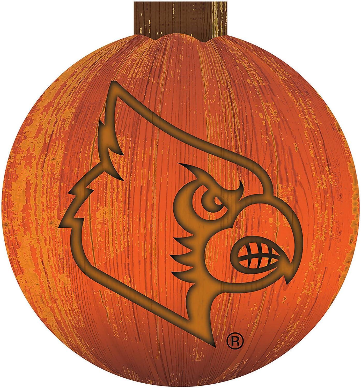 Halloween Pumpkin Sign Fan Creations NCAA Louisville Cardinals Unisex Louisville 12 in 12 inch Team Color