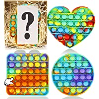 IGINOA Pop Fidget Figetget Sensory Toy Popping Anxiety Autism Stress Relieve Relief Pressure Bubble Silicone Game Gift…