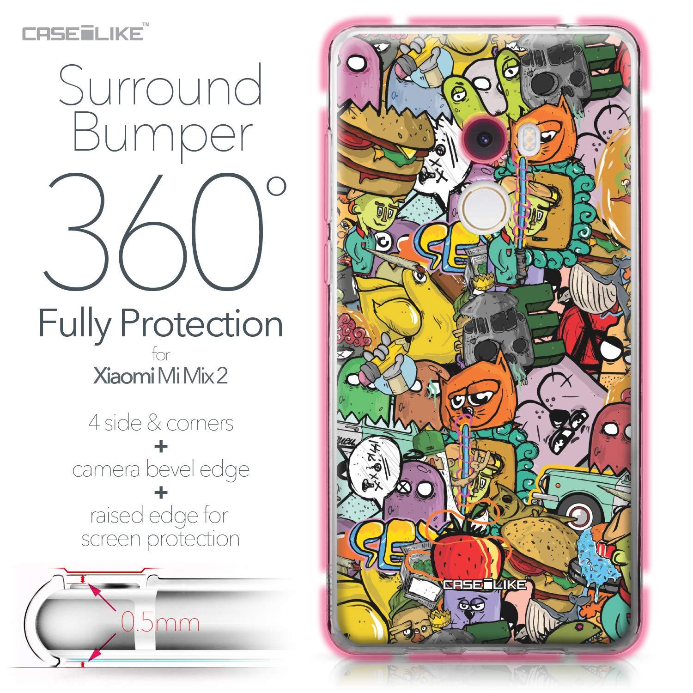 CASEiLIKE® Funda Mi Mix 2, Carcasa Xiaomi Mi Mix 2, Graffiti 2731, TPU Gel Silicone Protectora Cover