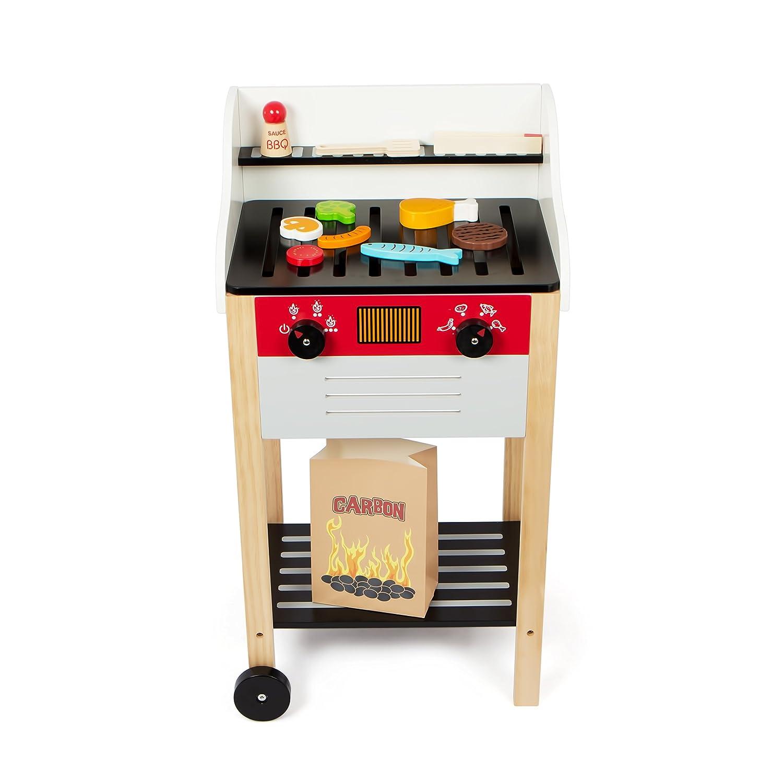 Kledio Kinder Holzgrillwagen - Spielzeuggrill oder Sevi Grill