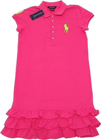 Ralph Lauren - Vestido - para niña Morado Violeta: Amazon.es: Ropa ...