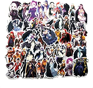 Anime Overlord Stickers50pcs Cool Anime Decals for Laptops Water Bottles Toys and Gifts Cars Stickers Cartoon Anime Aesthetic Sticker Pack(Overlord)