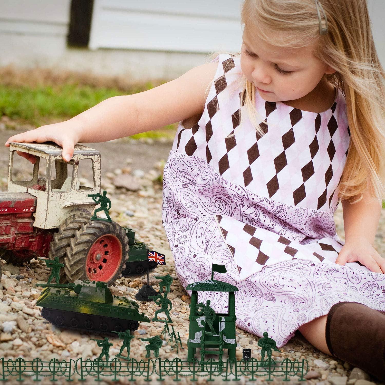 gro/ß wie Weihnachten Geburtstagsgeschenk Spielzeug f/ür Kinder Kinder Jungen YIJIAOYUN 250 st/ück Armee m/änner Soldaten Figuren b/ürgerkrieg Soldaten mit Tank Flugzeug Flagge