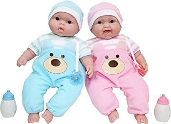 JC Toys Lifelike Huggable Twin Baby Doll