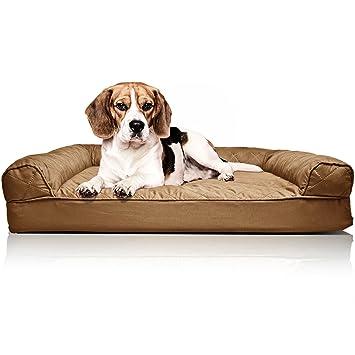 FurHaven Sofá Cama ortopédico para Mascotas, pequeño, Acolchado, de Color Rojo Vino: Amazon.es: Productos para mascotas