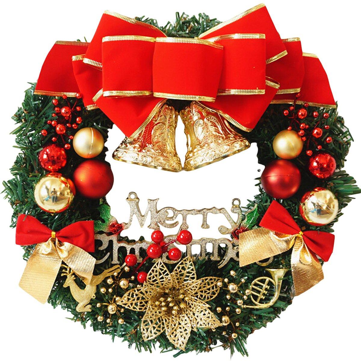Coxeer Deco Noel Deco Sapin de noel Guirlande de noel Decoration de Noel Exterieur Diamètre 30cm