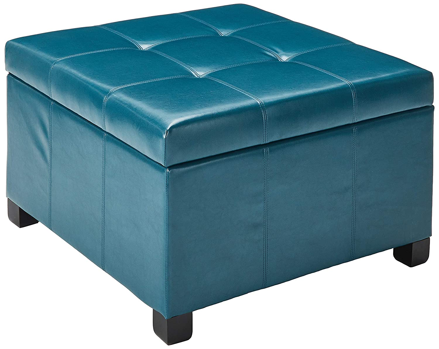 Teal Storage Ottoman Home Design