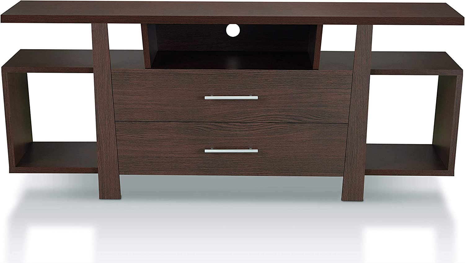 HOMES: Inside + Out Raphael Modern Wood Multi Storage 59-Inch TV Stand, Espresso
