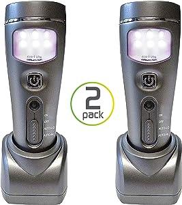 Capstone Lighting 4-in-1 Eco-I-Lite, 2 Pack – Emergency Flashlights