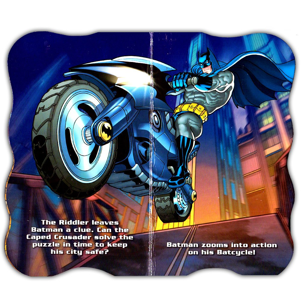 4 Books DC Comics Batman Shaped Board Book Set with Stickers Bendon Publishing Superhero Books for Kids