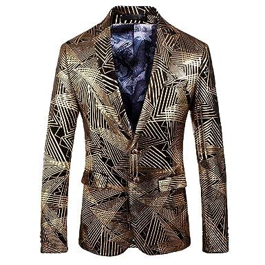 e3a3654a506 Image Unavailable. Image not available for. Color  Men s Dress Floral Suit  Notched Lapel Slim Fit Stylish Blazer ...