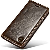 iPhone 7 Case,iPhone 8 Case,Bpowe CaseMe Crazy Horse Protective Flip Folio PU Leather Wallet case, Card Slots Case with Magnet Clutch Foldable for iphone 7 / iphone 8 4.7inch
