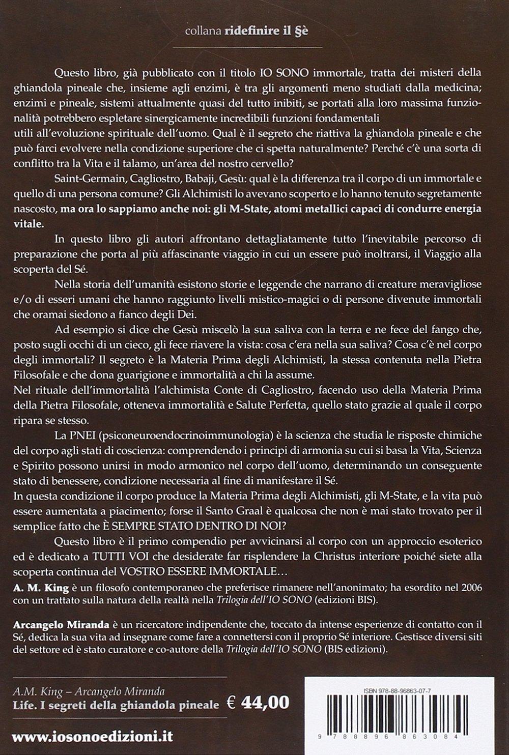 I segreti della ghiandola pineale: Amazon.es: Arcangelo Miranda, A. M. King: Libros en idiomas extranjeros