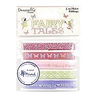 Dovecraft Premium Fairy Tales Ribbon Pack, Multicolour, 1