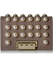 ZAC Zac Posen womens Earthette Card Case With Chain - Pearl Lady Purple Size: One Size