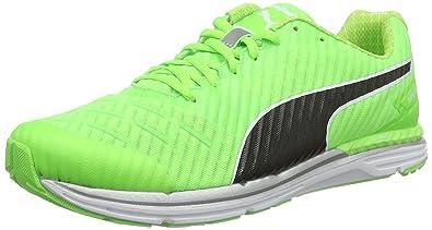 7b248593f73 Puma Men s Speed 300 Ignite Pwrcool Green Gecko and Black Running Shoes - 8  UK