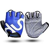 Boodun Fahrradhandschuhe Fingerlos Gummi Gepolstert Frauen & Herren Gym MTB Atmungsaktiv Rutschfestes Draussen Sport Gloves by KONVINIT