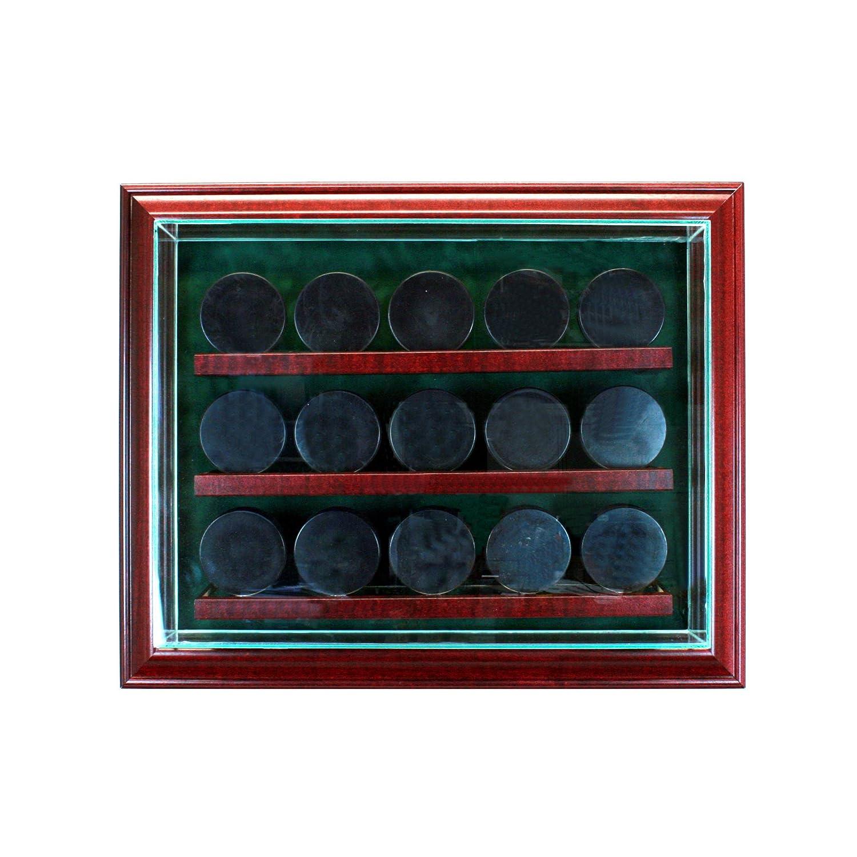 ガラス15 Hockey Puckキャビネットスタイル表示ケース B00NCCLYB2