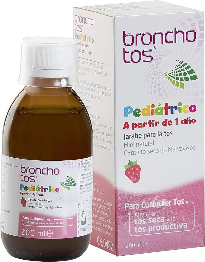Bronchotos Pediátrico Jarabe Tos Seca Y Productiva Niños Partir De 1 Año Sin Lactosa Sin Gluten Sabor Fresa Amazon Es Salud Y Cuidado Personal