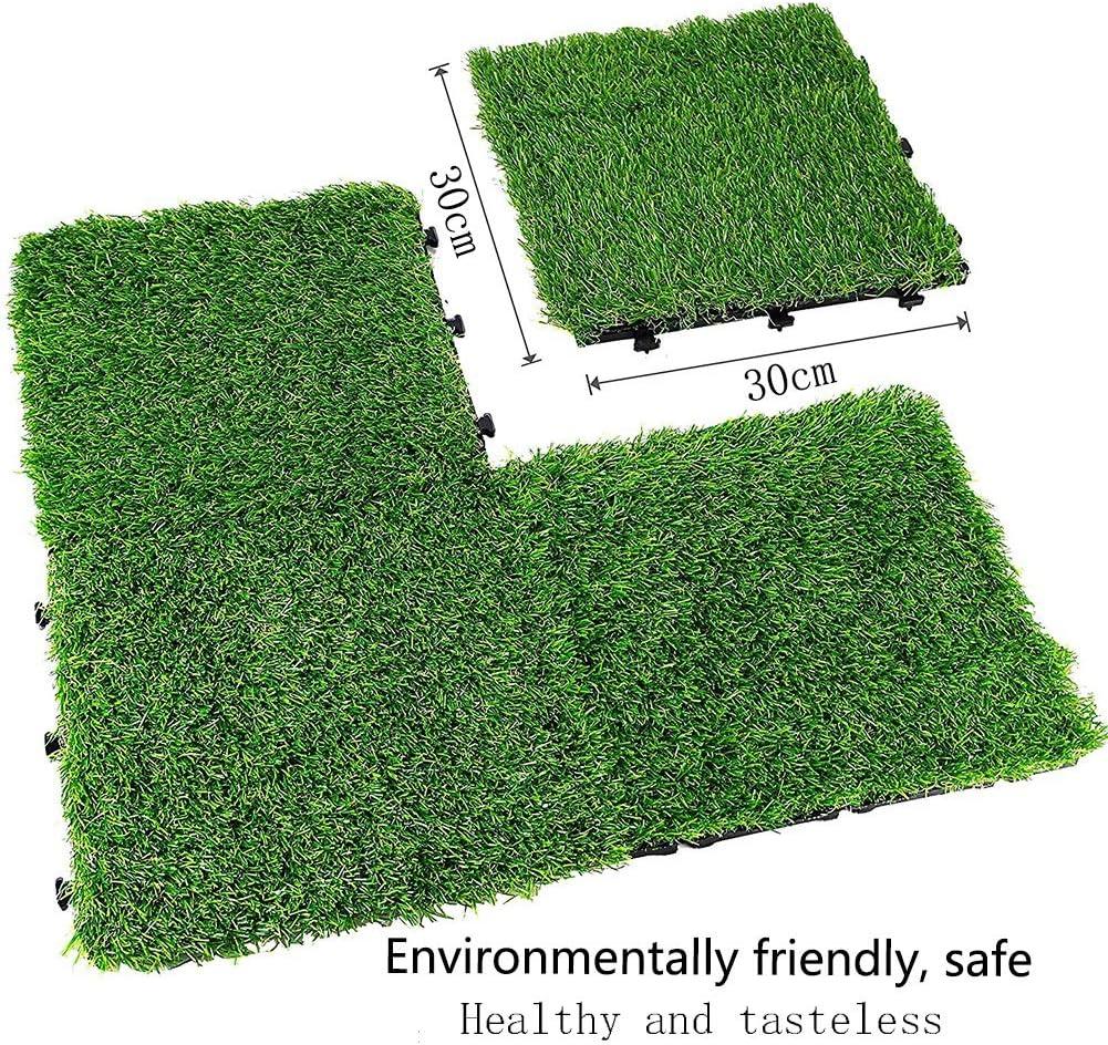 MAHFEI ジョイントマットフロアマット 人工芝マット 床の装飾 テラス装飾 ペットプレイエリア 環境を守ること 無臭 プラスチック、 アウトドア (Color : 緑, Size : 36PCS) 緑 36PCS