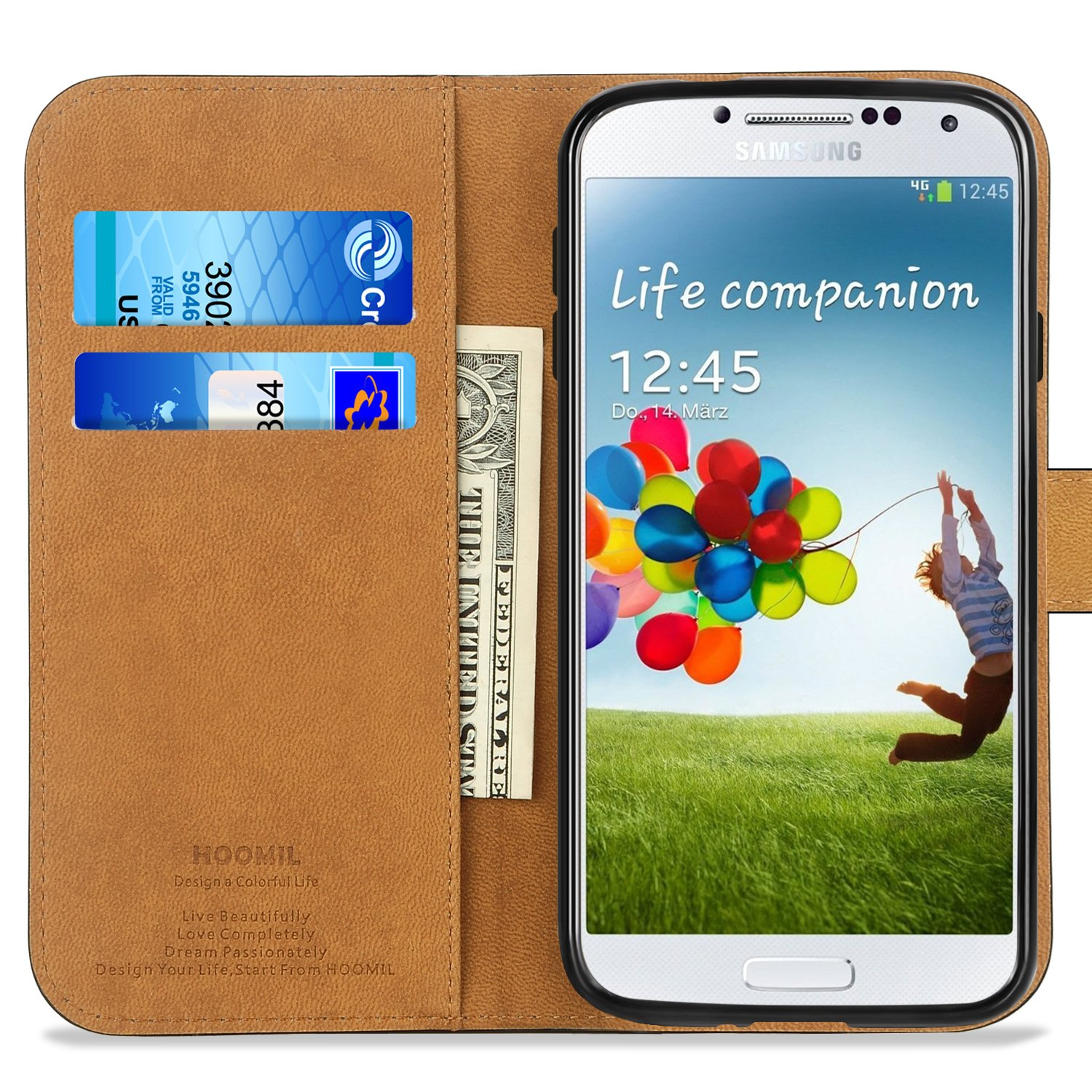Amazon Galaxy S4 Case HOOMIL Premium Leather Case for Samsung