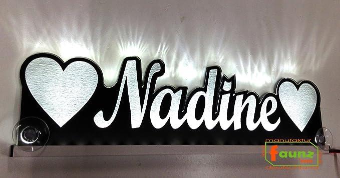 LED Namensschild 12, v.o.24 V Cartel LED Nombre