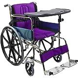 Kosmocare Premium Foldable Dura Mag Wheelchair With Soft Cushion & Seat Belt
