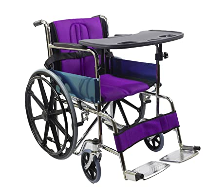 acbd2f80e92 Buy Kosmocare Premium Foldable Dura Mag Wheelchair With Soft Cushion   Seat  Belt Online at Low Prices in India - Amazon.in