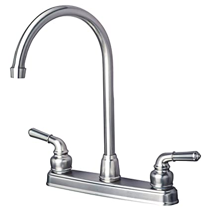 Builders Shoppe 1201SS RV Mobile Home Non-Metallic High Arc Swivel Kitchen Sink Faucet Brushed Nickel Finish - - Amazon.com  sc 1 st  Amazon.com & Builders Shoppe 1201SS RV Mobile Home Non-Metallic High Arc Swivel ...