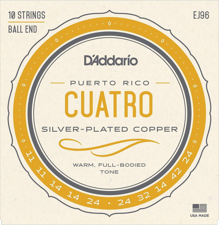 D'Addario EJ96 Cuatro-Puerto Rico Strings D'Addario &Co. Inc