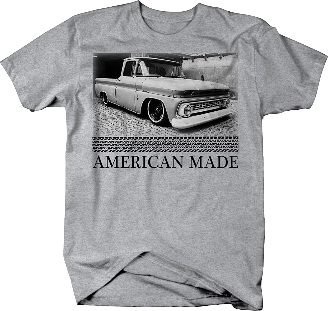 American Made Chevy C10 60 66 Patina Lowered Tshirt 1966 Truck Slammed Clothing