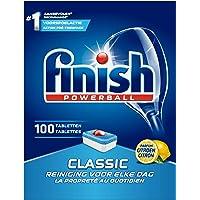 Finish Classic Citroen Vaatwastabletten - 100 Stuks - Verwijdert Hardnekkige Vlekken en Zorgt Voor een Glanzende Schone…