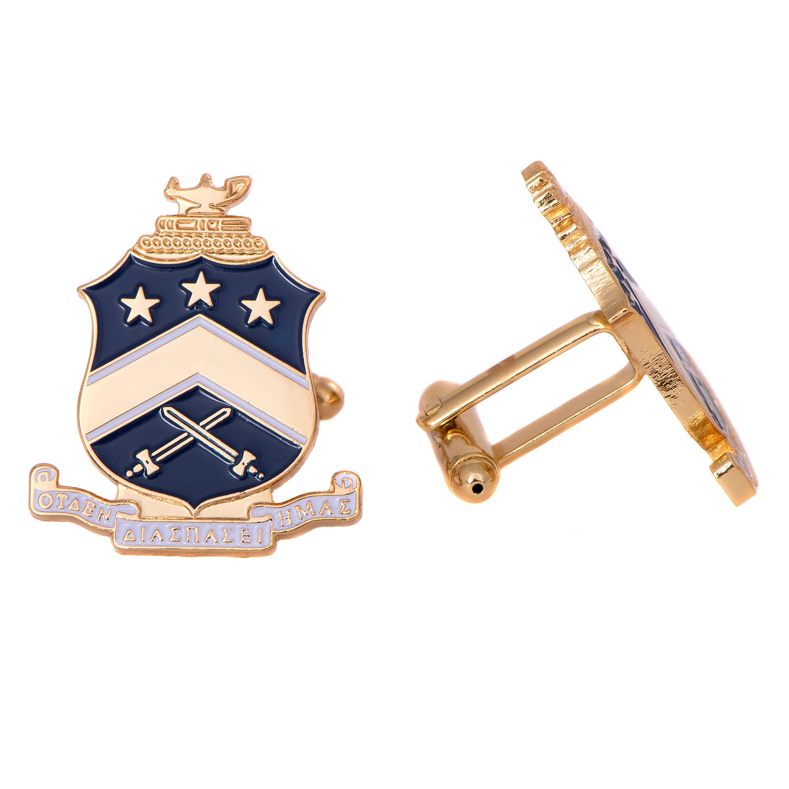 Desert Cactus Pi Kappa Phi Fraternity Crest Cufflinks Greek Formal Wear Blazer Jacket Pi Kapp by Desert Cactus (Image #1)