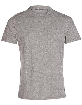 39fd7b1c3ec7 Levis Sunset Pocket T-Shirt - Grey - Mens - XX-Large  Amazon.co.uk  Clothing