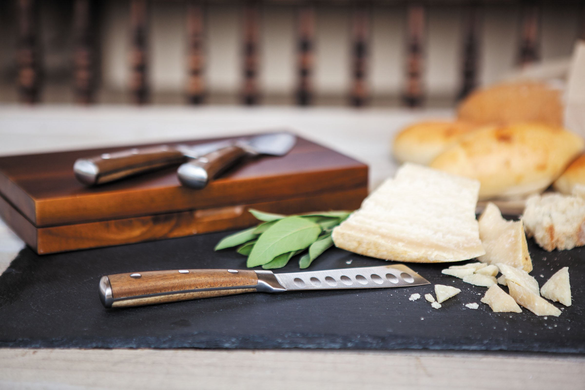 TOSCANA - a Picnic Time Brand Fabio Viviani Tridente Boxed Cheese Knives, Set of 3 by TOSCANA - a Picnic Time brand (Image #2)