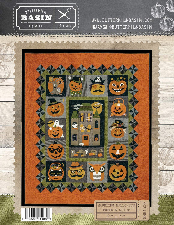 Haunting Halloween Quilt Pattern - by Buttermilk Basin - Wool Applique Pattern - BMB 1500 61'' x 71'' by Buttermilk Basin