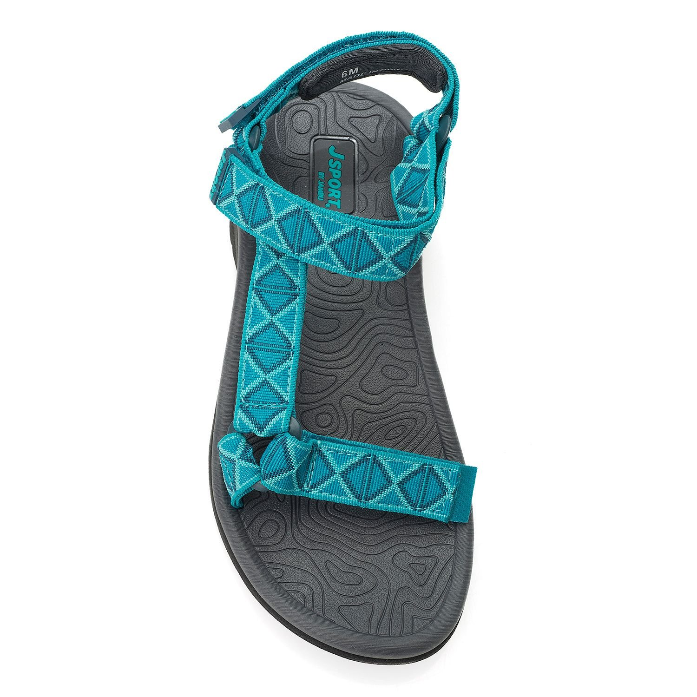 40051658a1c1f Amazon.com | JSport by Jambu Women's Navajo-Water Ready Flat Sandal ...