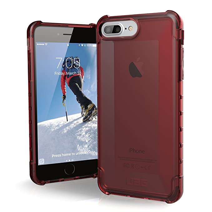 the best attitude 01c81 9b964 UAG iPhone 8 Plus/iPhone 7 Plus/iPhone 6s Plus [5.5-inch Screen] Plyo  Feather-Light Rugged [Crimson] Military Drop Tested iPhone Case