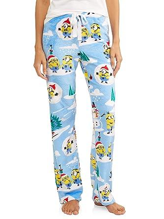d6f89d3e6fd0a6 Despicable Me Minion Christmas Snow Super Minky Fleece Sleep Pajama Pants  (X-Large 16