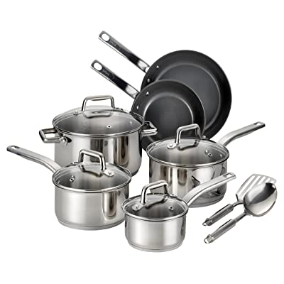Twelve Piece Silver Cookware Set