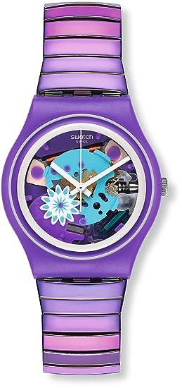 Swatch Reloj Digital para Mujer de Cuarzo con Correa en Acero Inoxidable GV129A: Amazon.es: Relojes